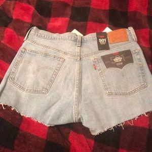 Levis 501 short shorts